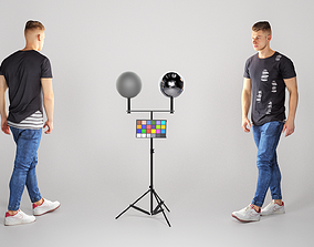 Handsome young man walking 142 3D model