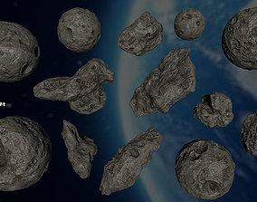 asteroid set 3D model