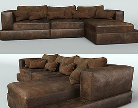 3D suede Leather sofa