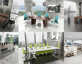 6 Office Interior Pack Collection 3D