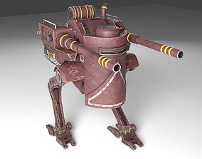 robot 3D model animated game-ready Robot