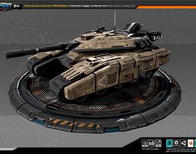 3D model RTS Light Tank - 04
