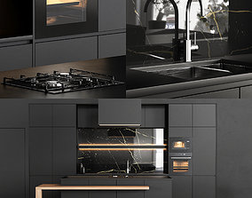 Modern kitchen wood 3D model