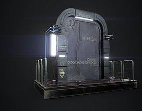 Scifi Door PBR 3D model
