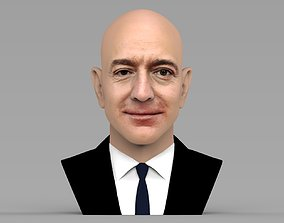 Jeff Bezos bust ready for full color 3D printing