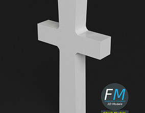 3D PBR War memorial gravestone - Cross