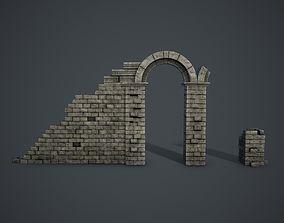 Ruins with Arc 3D asset
