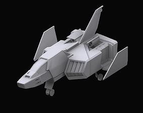3D Gundam EF Corefighter model