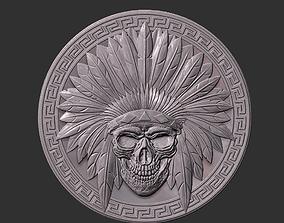 indian skull art 3D print model