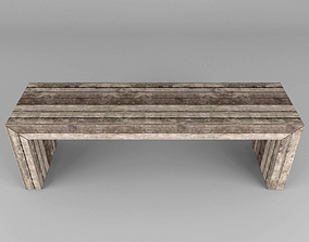 park Wooden bench 3D model