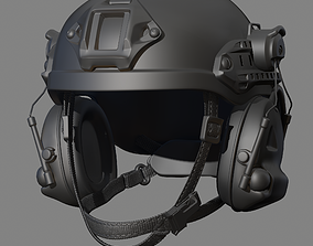 Military Helmet outfit 3D model