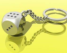 3D printable model Dice Key Chain Ring