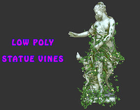 Statue Vines 027 - Low Poly 3D asset