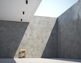 3D model Polished concrete texture large surface