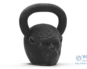 Gorilla Kettlebell - Low Poly and Sculpt 3D asset