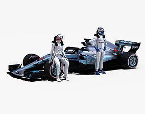 Mercedes AMG F1 W09 EQ Power 3D model
