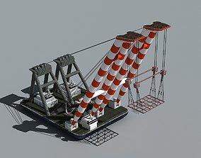 heavy 3D Floating crane 01