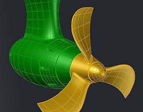 3D print model 3 BLADE PROPELLER D340