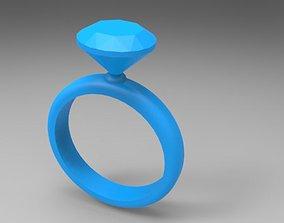 Diamond ring XL 3D print model