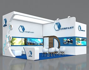Booth Exhibition Stand Stall 8x5m Height 400 cm 3D model 2