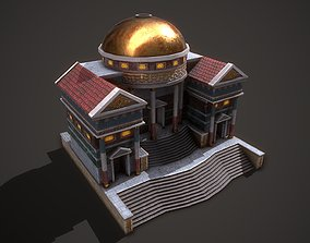 Ancient Courtthouse 3D model game-ready
