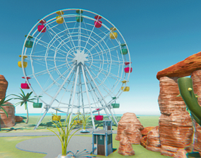 industrial 3D Ferris wheel