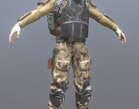 3D asset Rigged Mercenary C