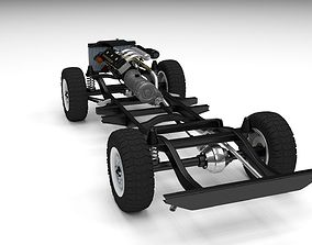 Offroad Truck Chassis 3D model