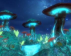 mushroom island 3D model