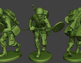 3D printable model American engineer soldier ww2 Run A9