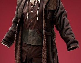 3D asset Wood Cutter Coat Costume