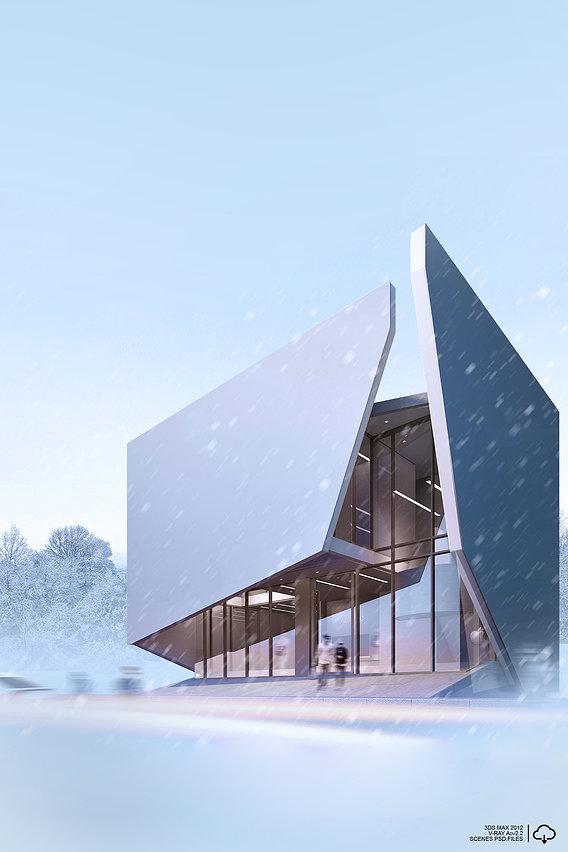 CGI | exterior | Winter atmosphere