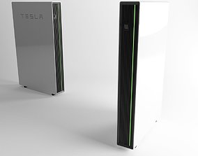 Tesla Powerwall house battery 3D model