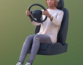 3D model 10613 Iona - Casual Woman Driving A Car
