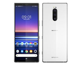 Sony Xperia 1 White 3D model