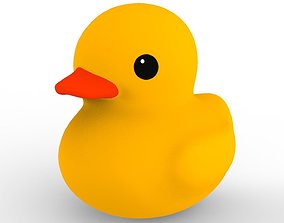 3D asset game-ready water Rubber duck