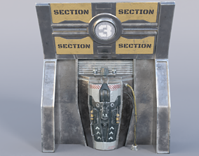 Sci-fi Door Entrance 3D model