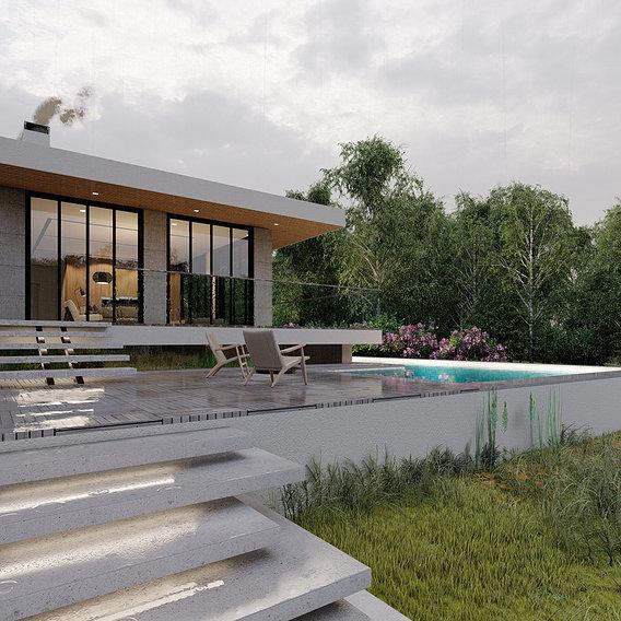 villa in jungle
