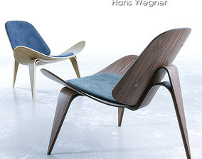 Wegner CH07 Shell Chair 3D model