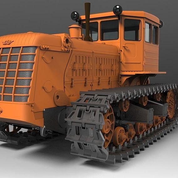 Scale model 1:43. Soviet tractor BAZ T-180 (2 modifications)