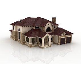 large luxury mansion 3D