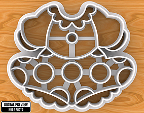 3D print model Minnie Mouse Dress Cookie Cutter