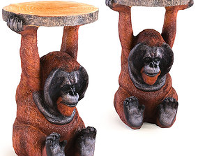 3D Side Table Animal Orang Utan