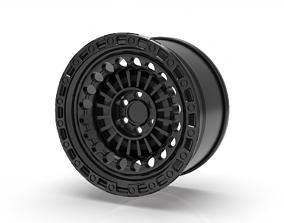 black rhino rim design 3D printable model armory