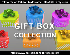3D model Environment - Christmas Gift Box Collection