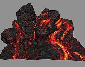 3D asset lava rocks 2