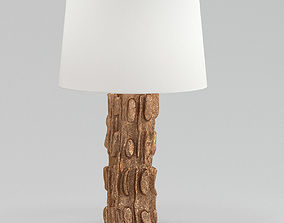 3D model glass White And Brown Table Lamp