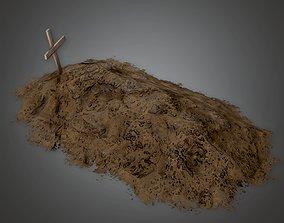 CEM - Cemetery Grave 2 - PBR Game Ready 3D model