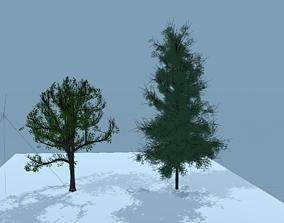 leaf 3D model Trees