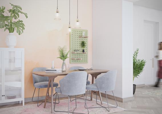 Watercolor room, living area
